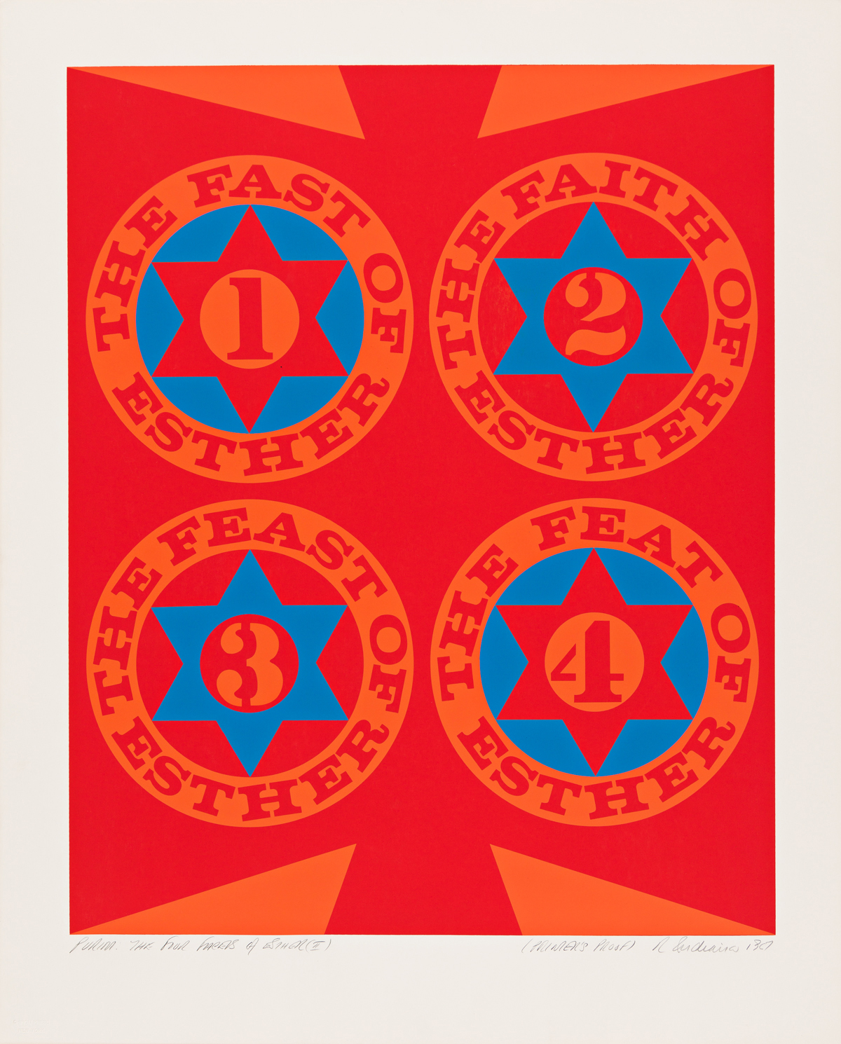 ROBERT INDIANA Purim: The Four Facets of Esther (I).