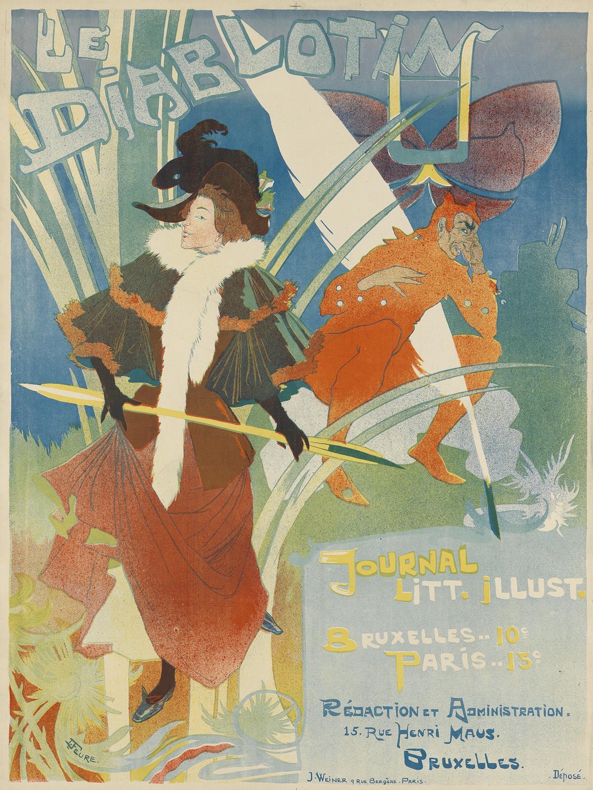 GEORGES-DE-FEURE-(1868-1943)-LE-DIABLOTIN-1892-31x23-inches-