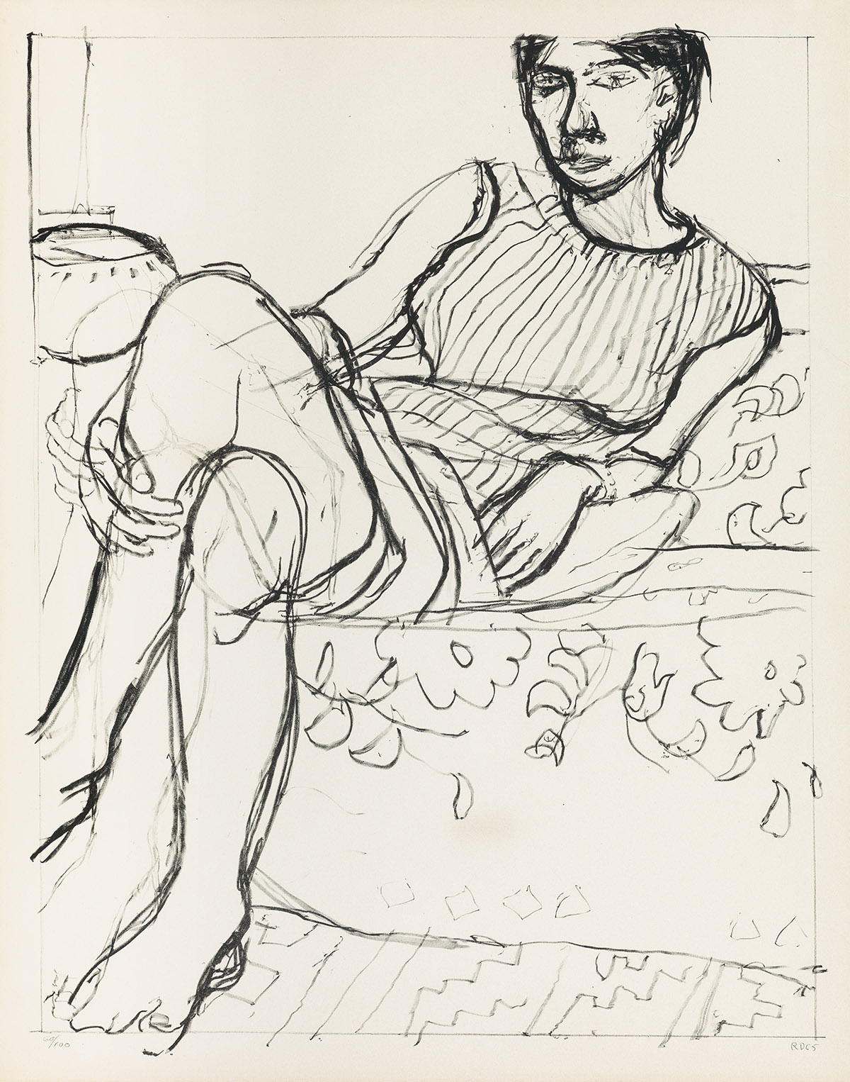 RICHARD-DIEBENKORN-Seated-Woman-in-a-Striped-Dress