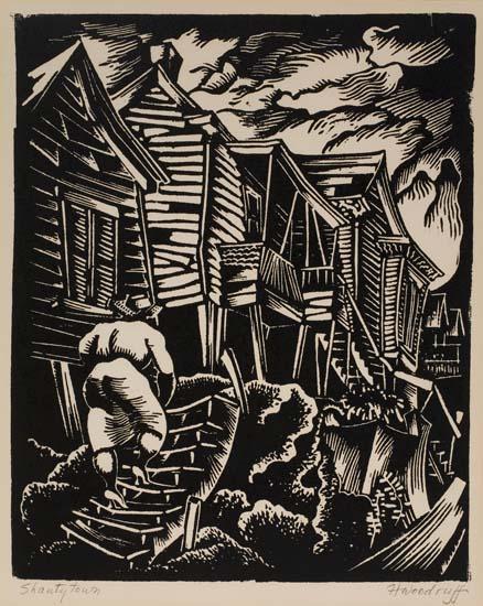 HALE-ASPACIO-WOODRUFF-(1900---1980)-Shantytown
