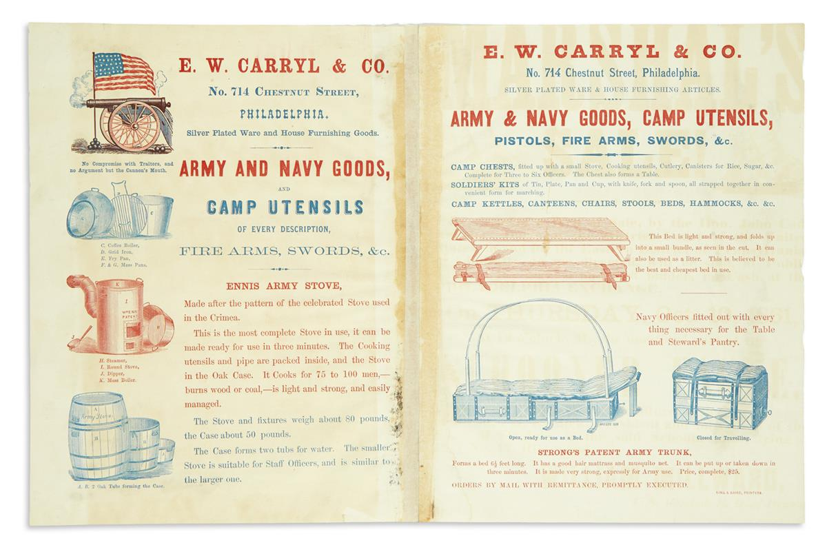 (CIVIL-WAR--BROADSIDES)-EW-Carryl--Co-Circular-for-army-and-