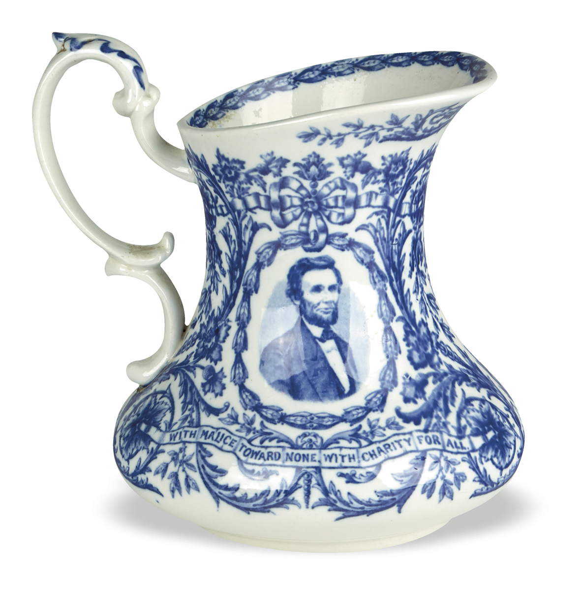 (REALIA)-Staffordshire-pitcher-depicting-Lincoln