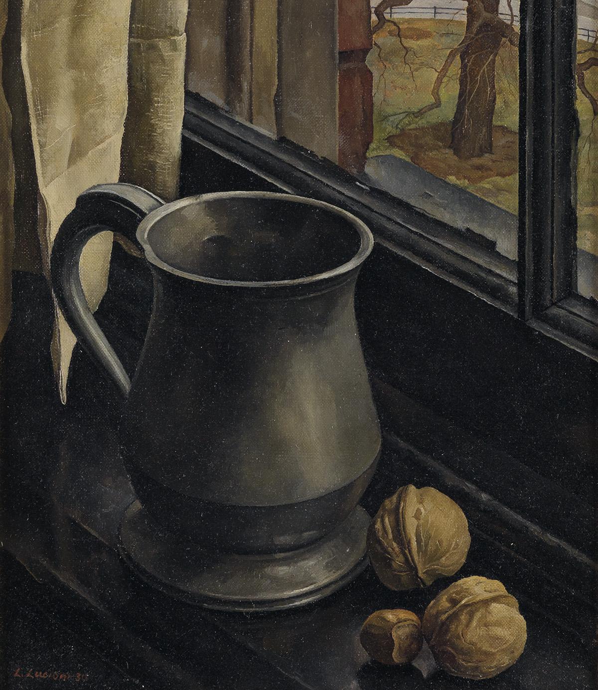 LUIGI-LUCIONI-Still-Life-with-a-Pewter-Mug