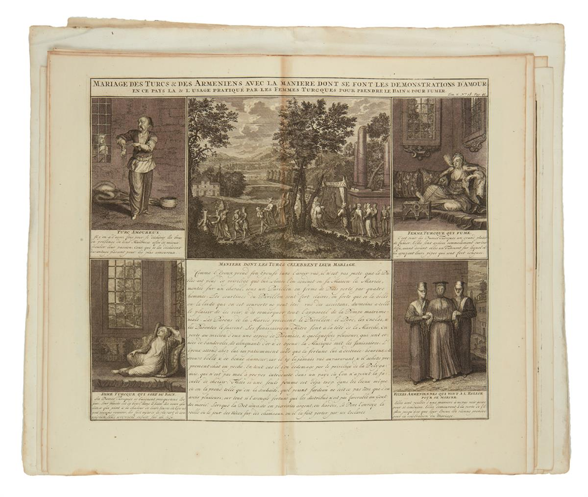 CHATELAIN-HENRI-Group-of-28-double-page-or-folding-plates-fr