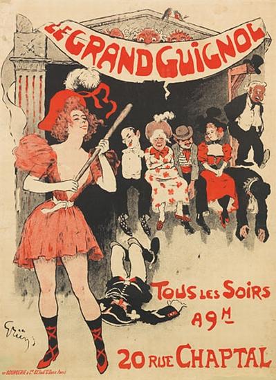 JULES-ALEXANDRE-GRÜN-(1868-1938)-LE-GRAND-GUIGNOL-1897-49x35