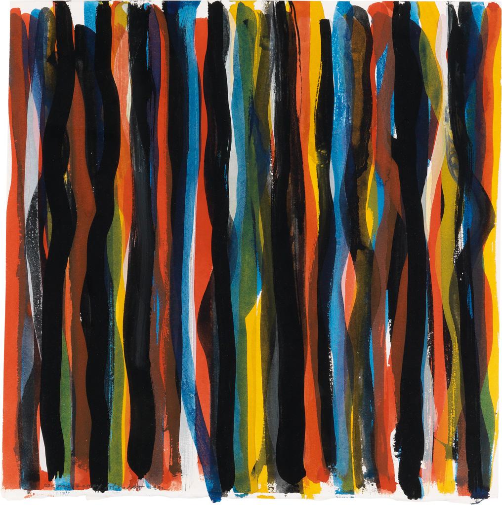 SOL LEWITT Untitled (Vertical Brushstrokes).