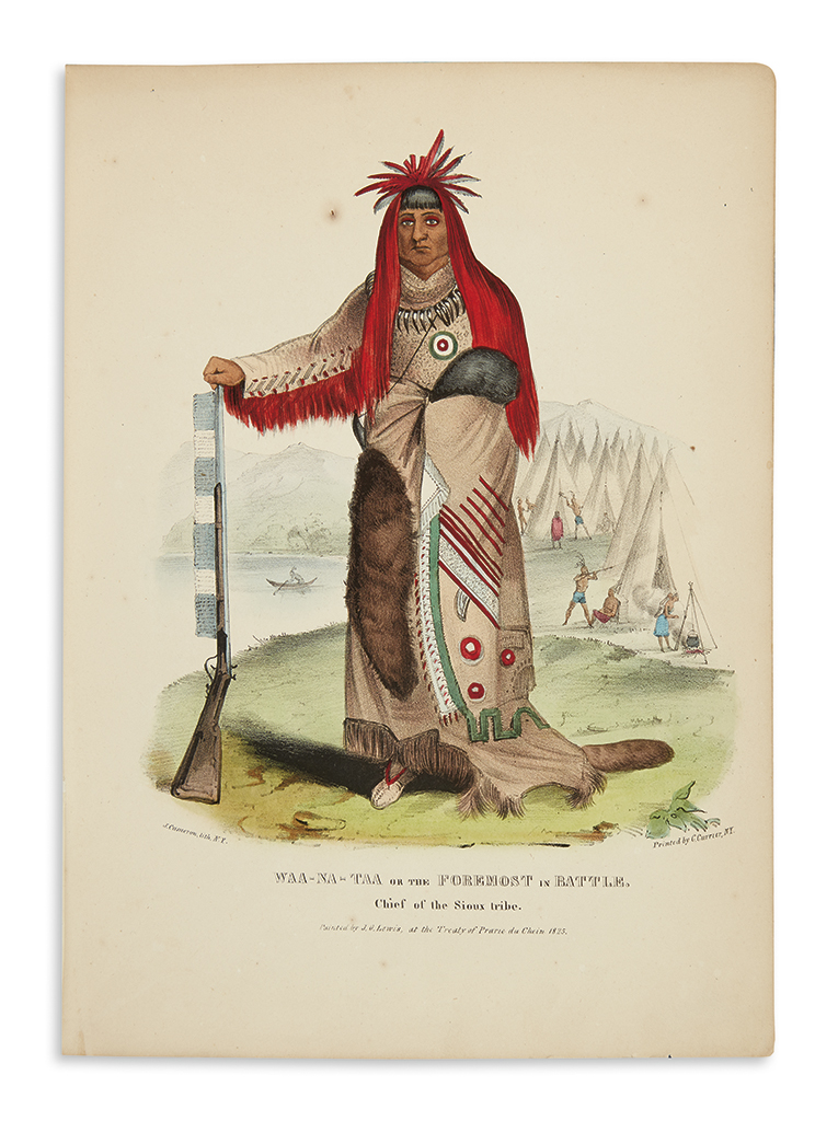 (AMERICAN-INDIANS)-Lewis-James-O-The-Aboriginal-Port-Folio