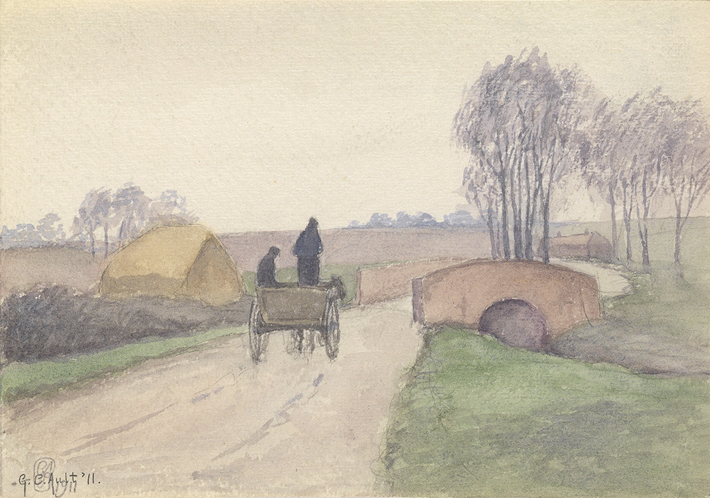 GEORGE-C-AULT-Country-Road-with-Horse-and-Carriage