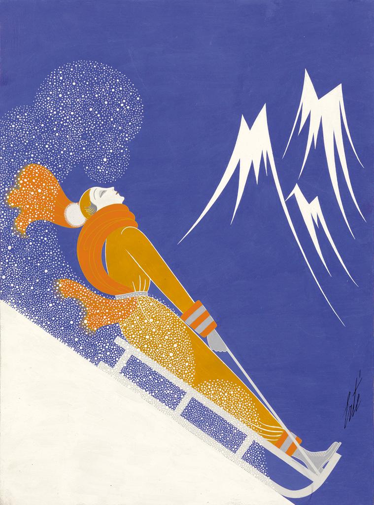 ERTÉ-[ROMAIN-DE-TIRTOFF]-Sports-dHiver--Cover-illustration-f
