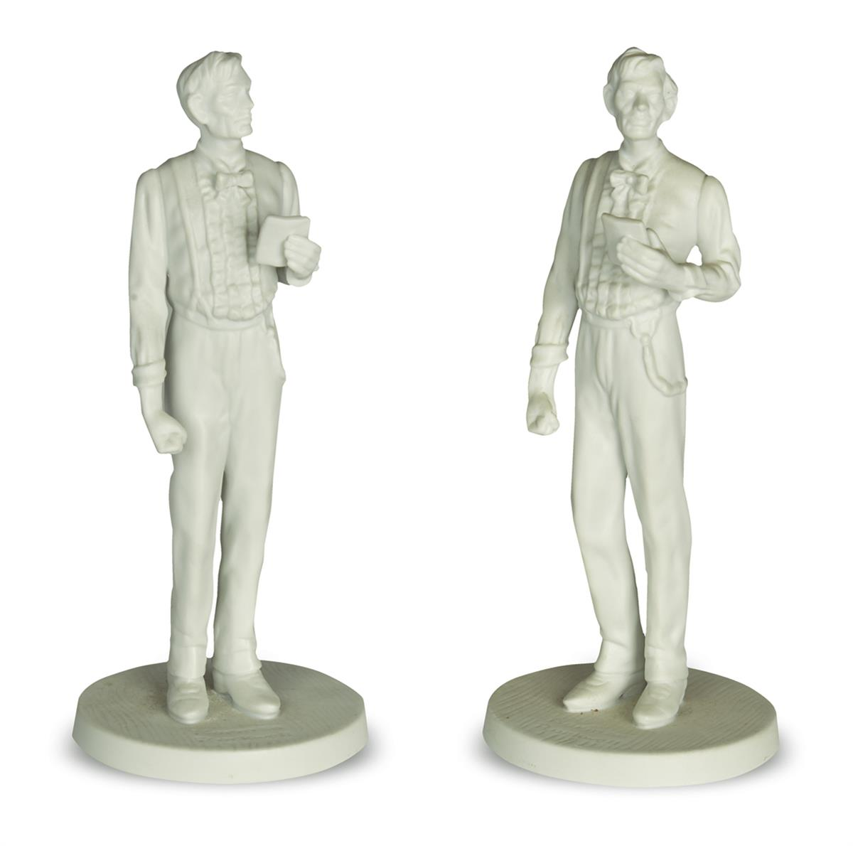 (SCULPTURE)-Group-of-15-modern-sculptures-of-Lincoln