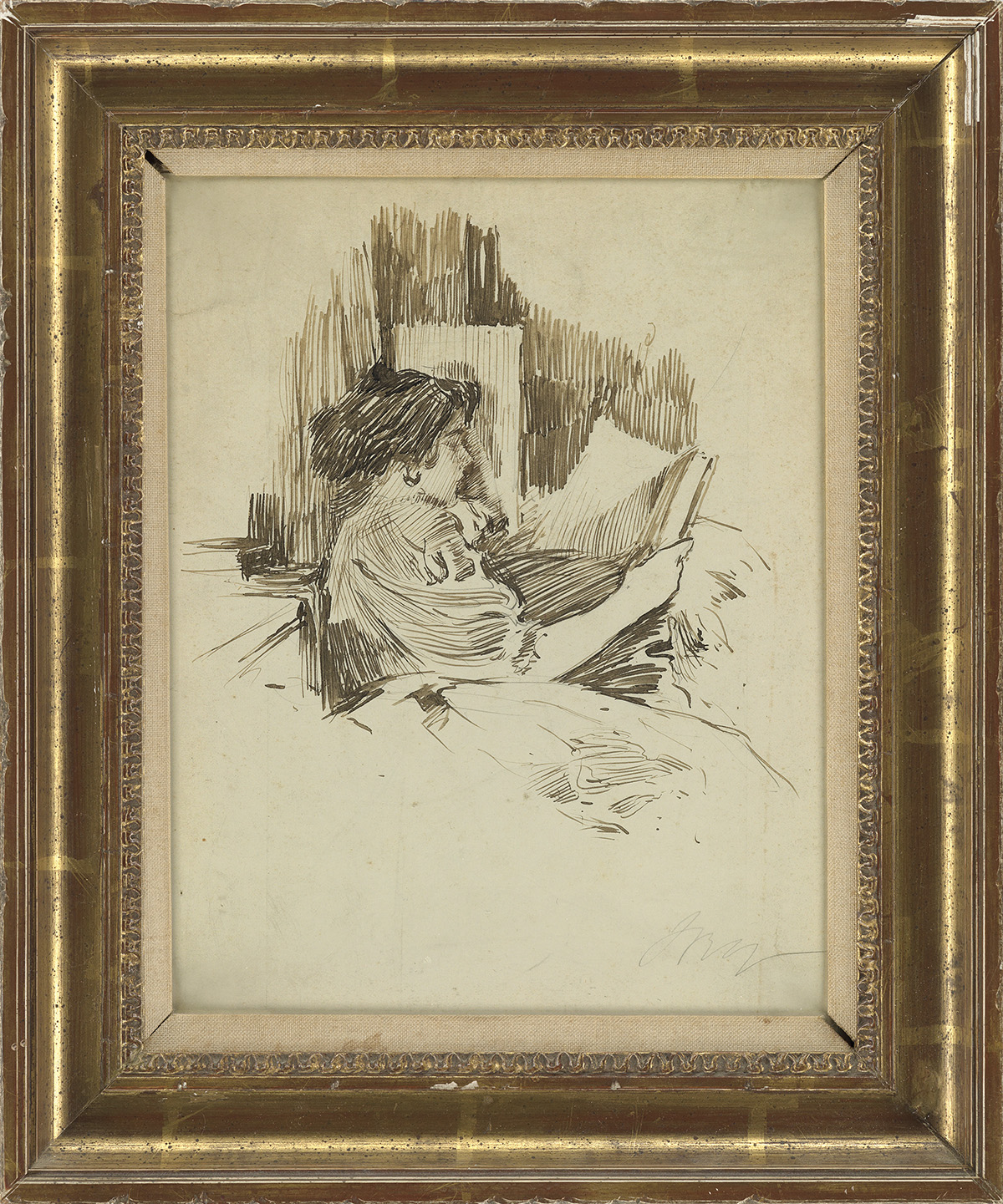 IRVING-RAMSEY-WILES-Gladys-The-Artists-Daughter-Reading