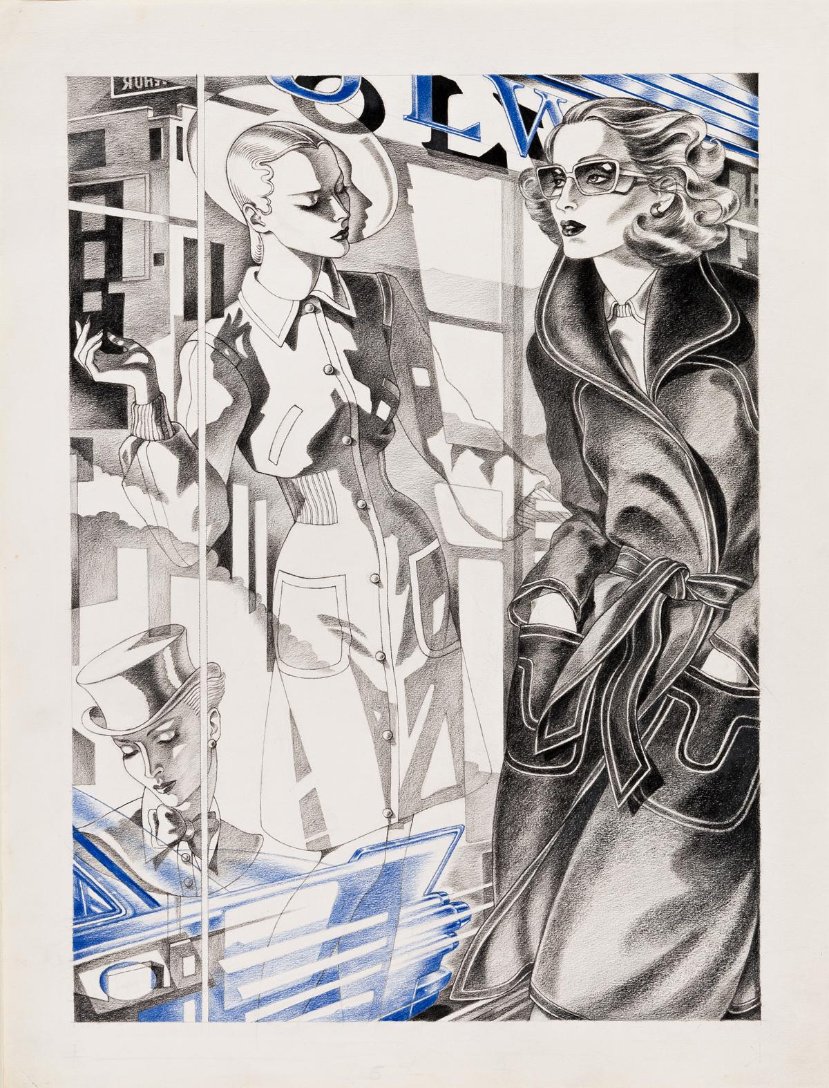 ANTONIO LOPEZ (1943-1987) Illustrée par Antonio. Voici la mode boutique été soixante treize.