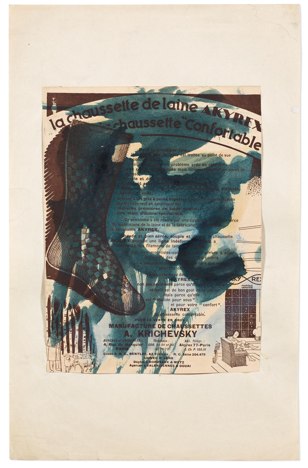 JOSEPH STELLA (1877-1946) Chaussette.
