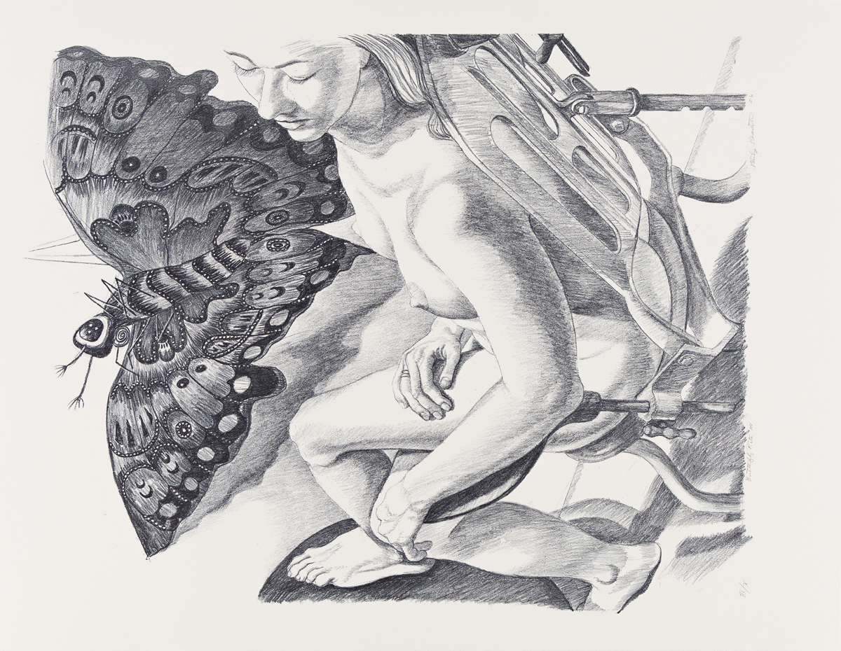 PHILIP PEARLSTEIN Three color lithographs.