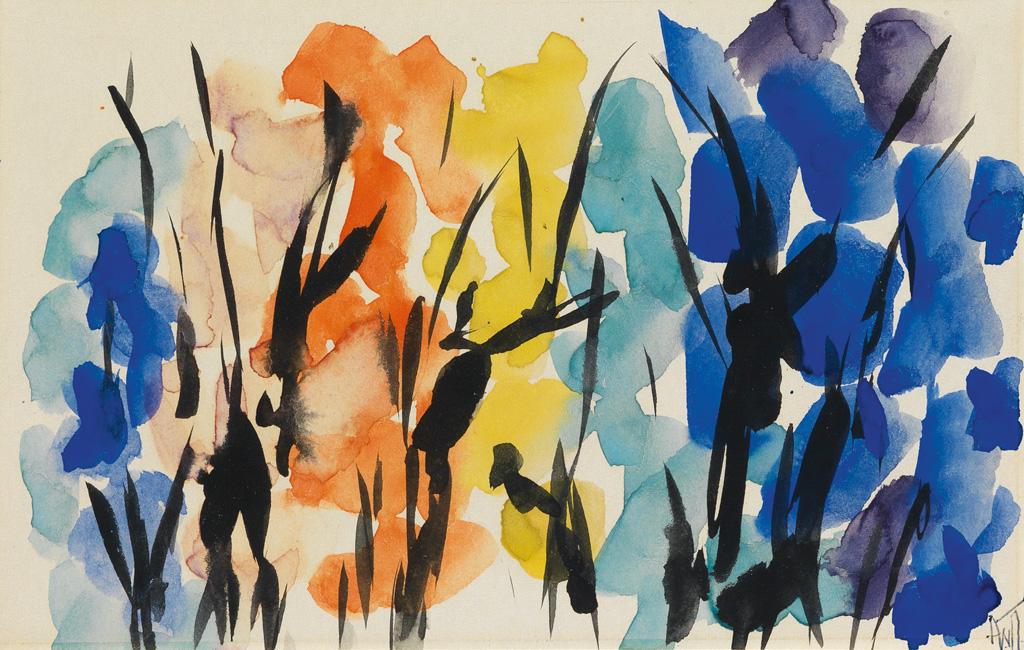 ALMA W. THOMAS (1891 - 1978) Untitled (Orange and Blue Composition).