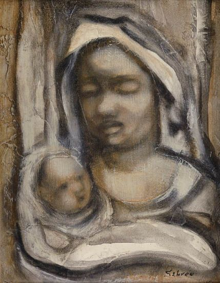 CHARLES SEBREE (1914 - 1985) Mother and Child.