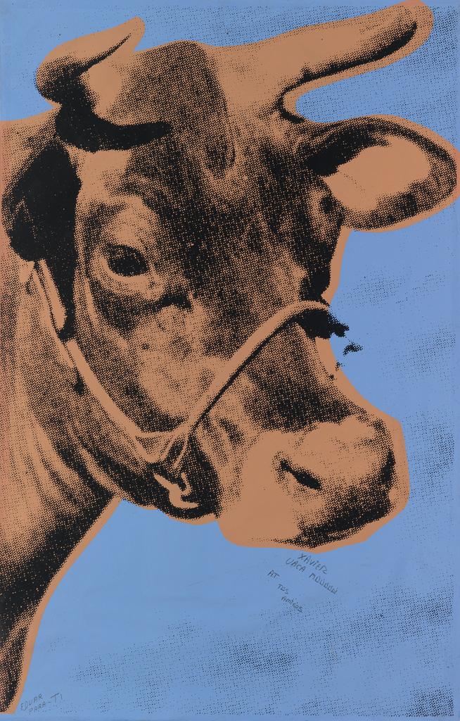 ANDY WARHOL Cow.