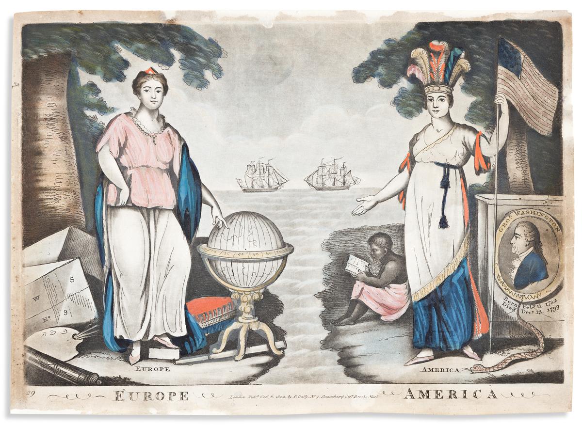 (ALLEGORIES.) Europe, America / Asia, Africa.