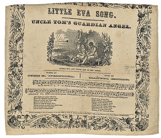 (SLAVERY AND ABOLITION.) STOWE, HARRIET BEECHER. Little Eva Song. Uncle Tom's Guardian Angel.