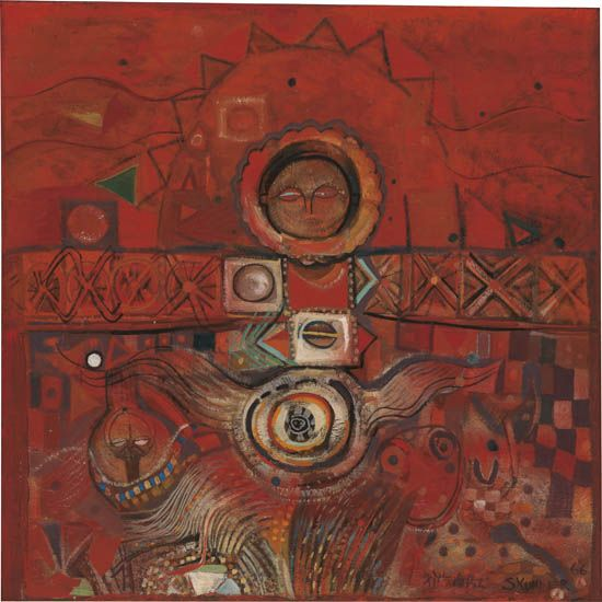 ALEXANDER-SKUNDER-BAGHOSSIAN-(1937---2003)-Untitled-(Abstrac