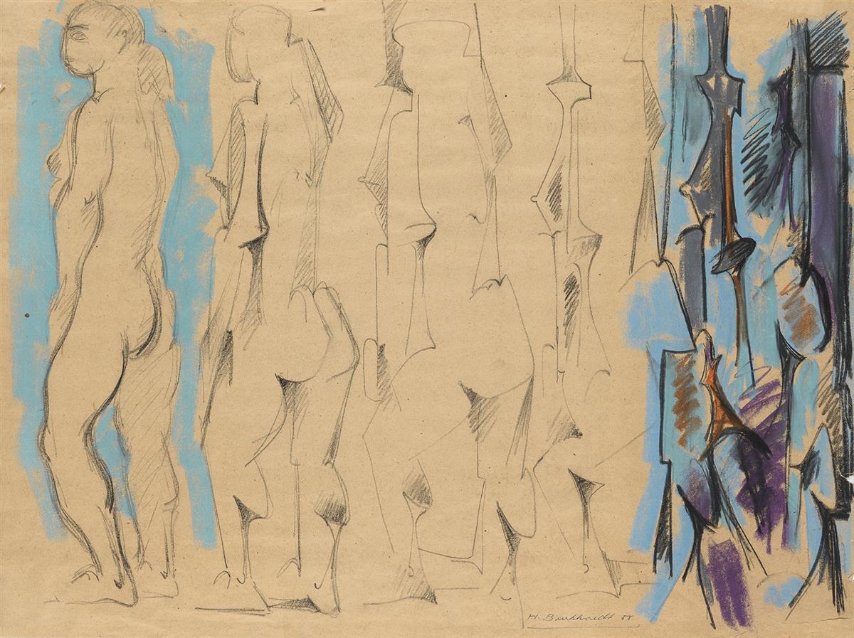 HANS-BURKHARDT-Abstract-Figural-Scene