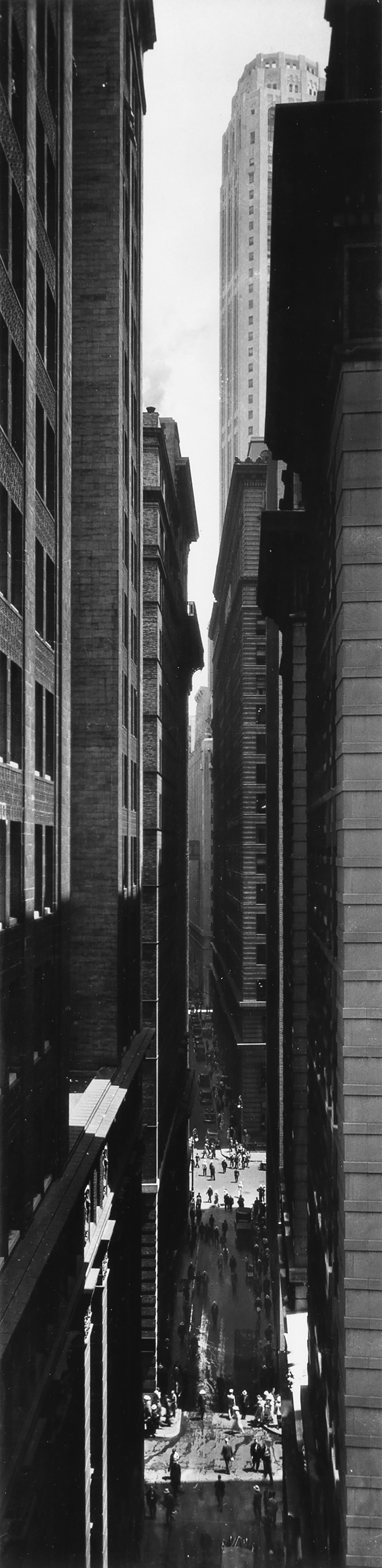 BERENICE ABBOTT (1898-1991) View of Exchange Place from Broadway, New York.