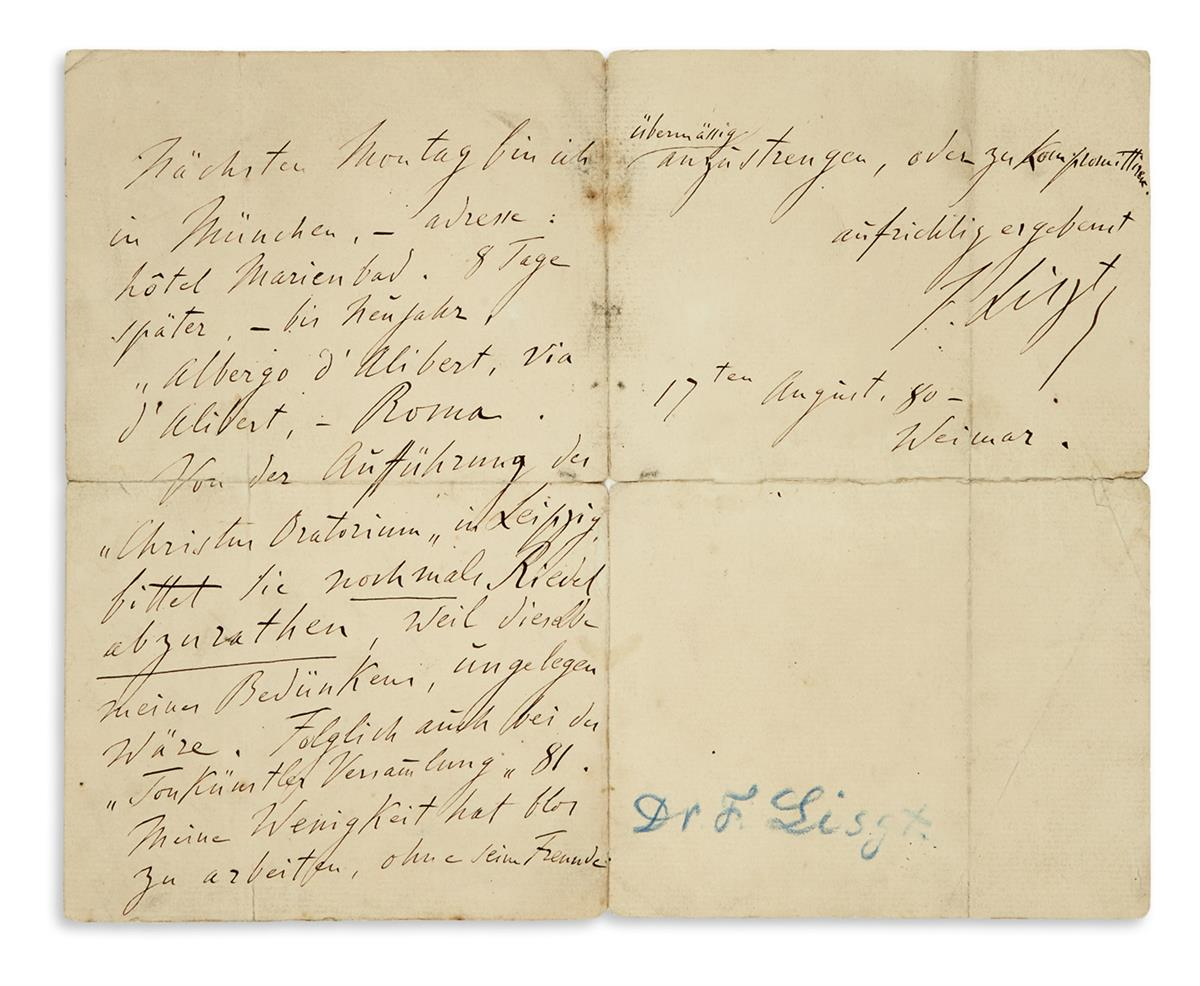 LISZT-FRANZ-Autograph-Letter-Signed-F-Liszt-to-the-General-G