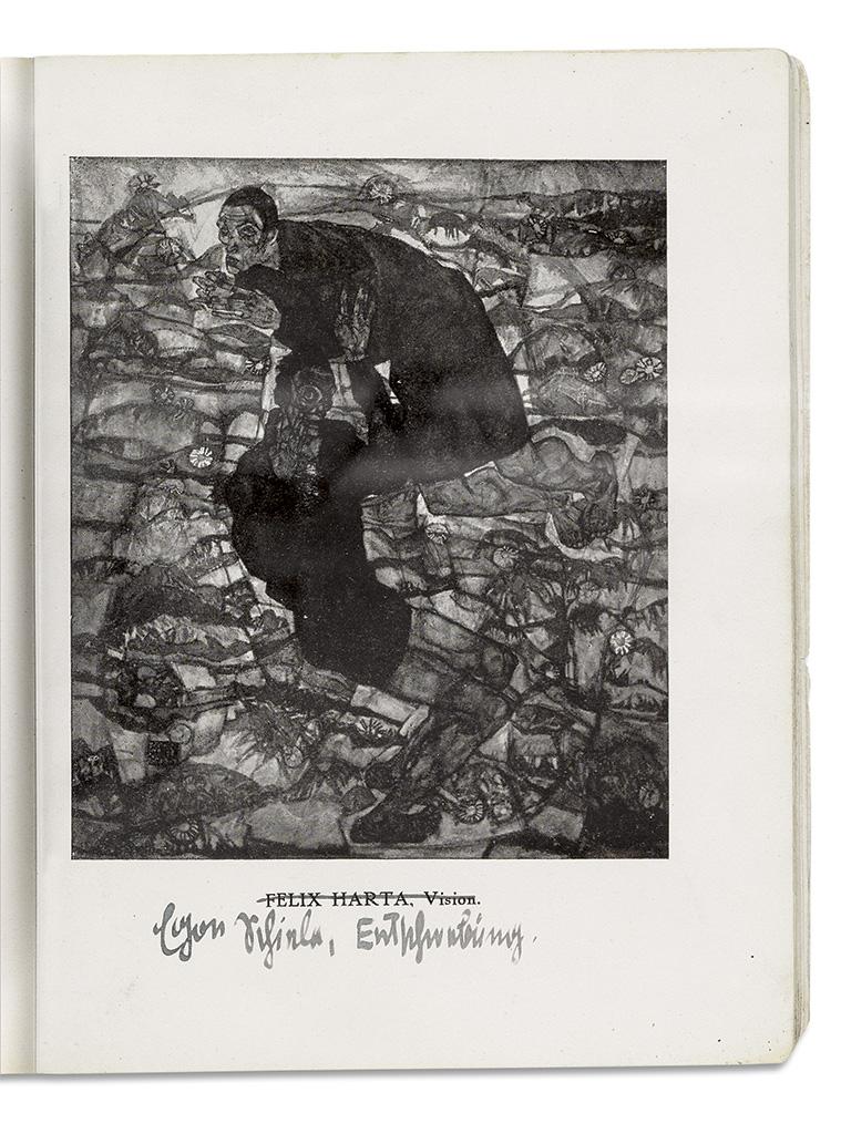SCHIELE, EGON. Katalog der Wiener Kunstschau: in der Berliner Secession Kurfürstendamm 232. Signed, with two additional inscriptions, i