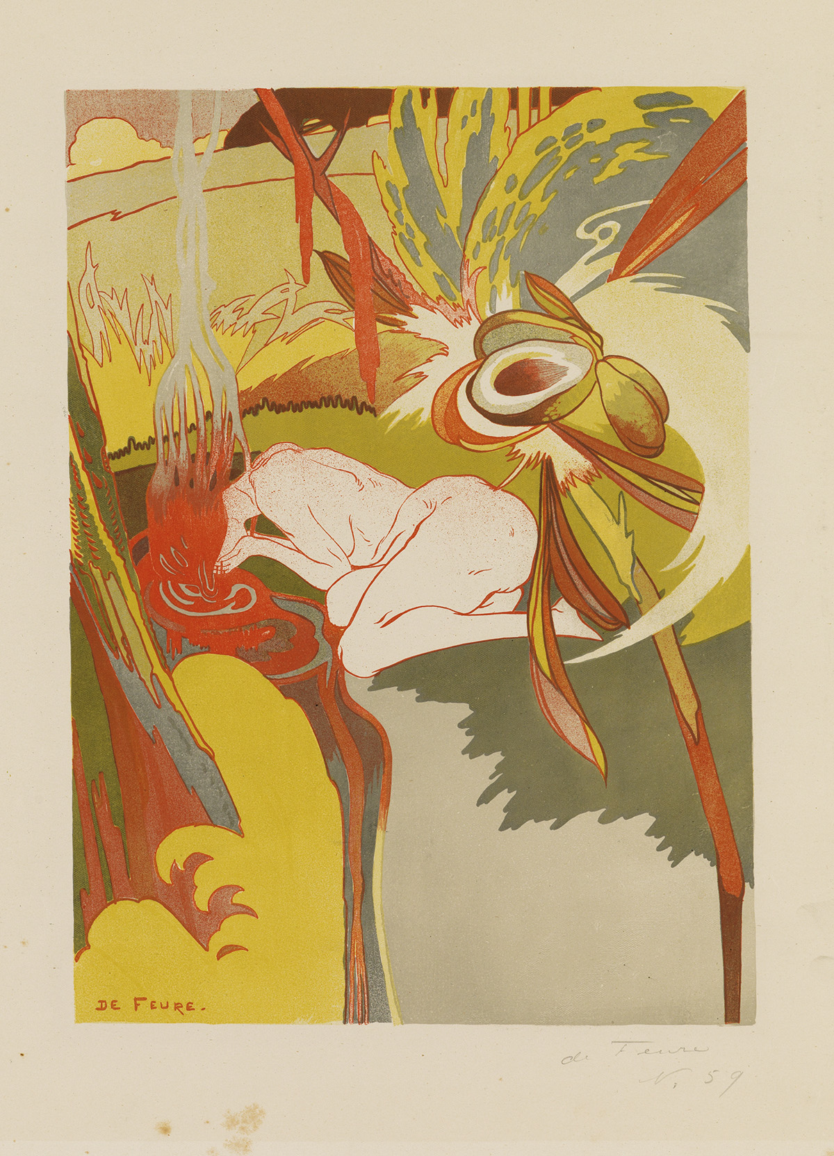 GEORGES-DE-FEURE-(1868-1943)-[LA-SOURCE-DU-MAL]-1894-23x16-i