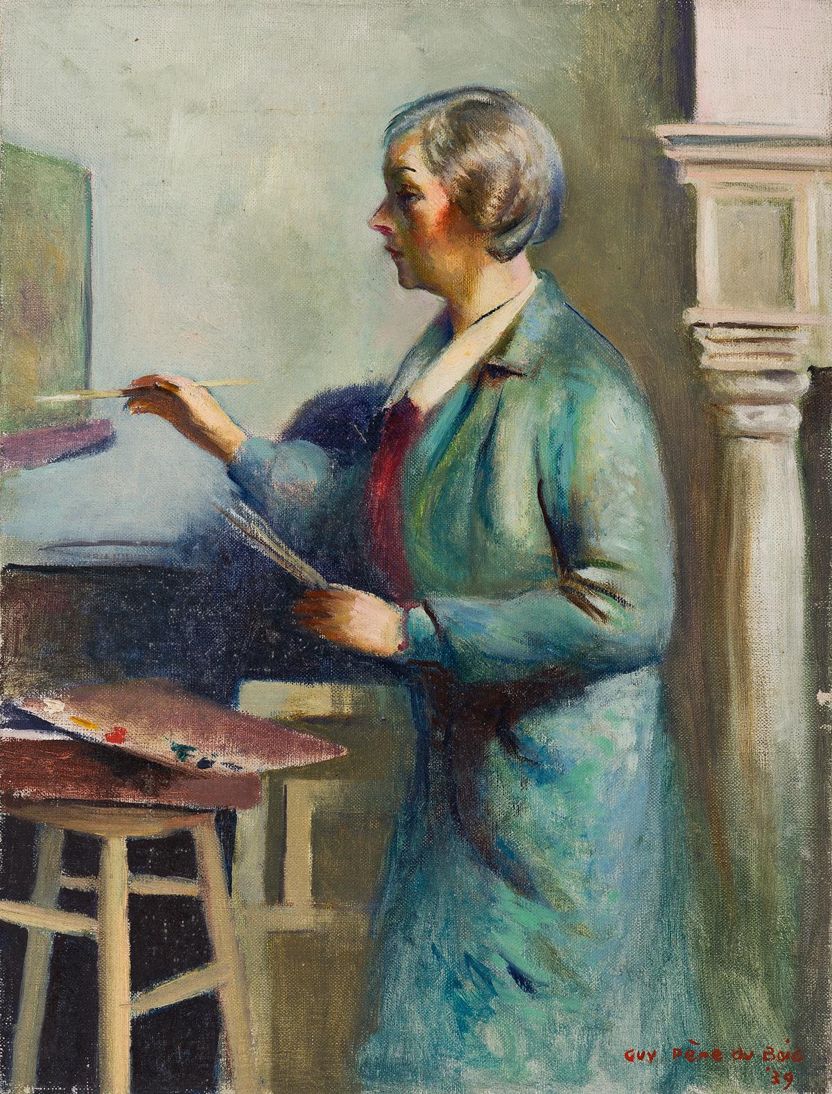 GUY-PÈNE-DU-BOIS-A-Woman-Painting-(Elizabeth-Jones)