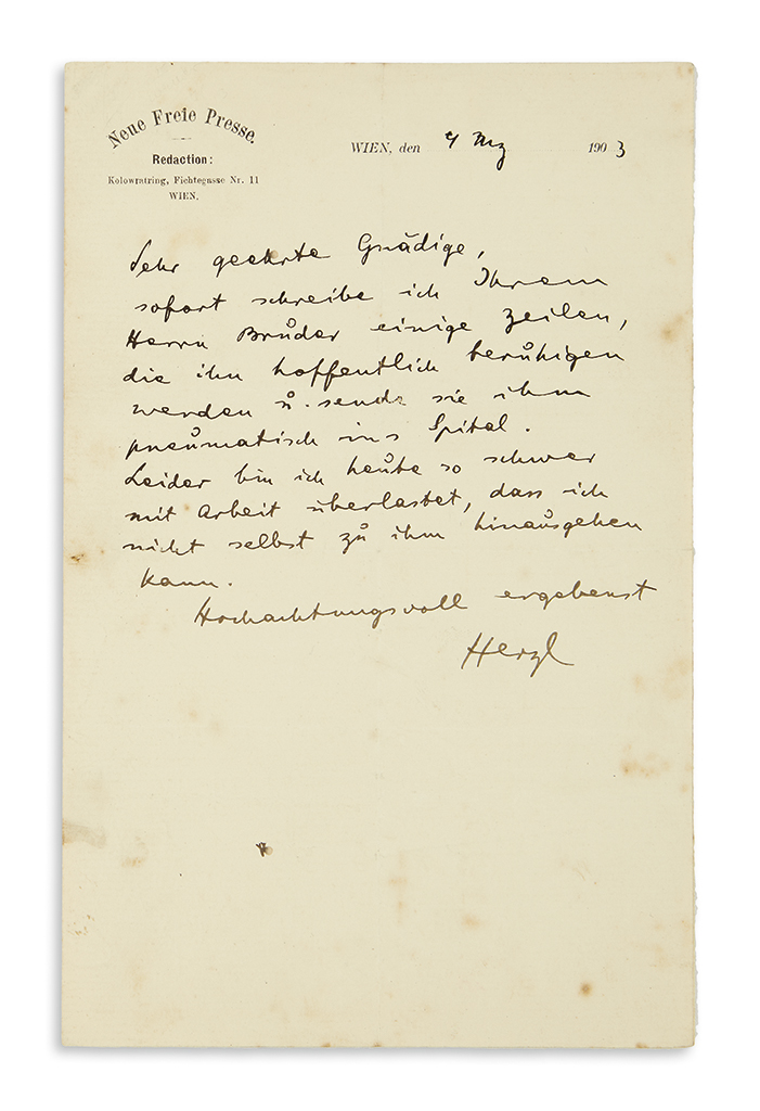 (ISRAEL)-HERZL-THEODOR-Autograph-Letter-Signed-Herzl-to-an-u