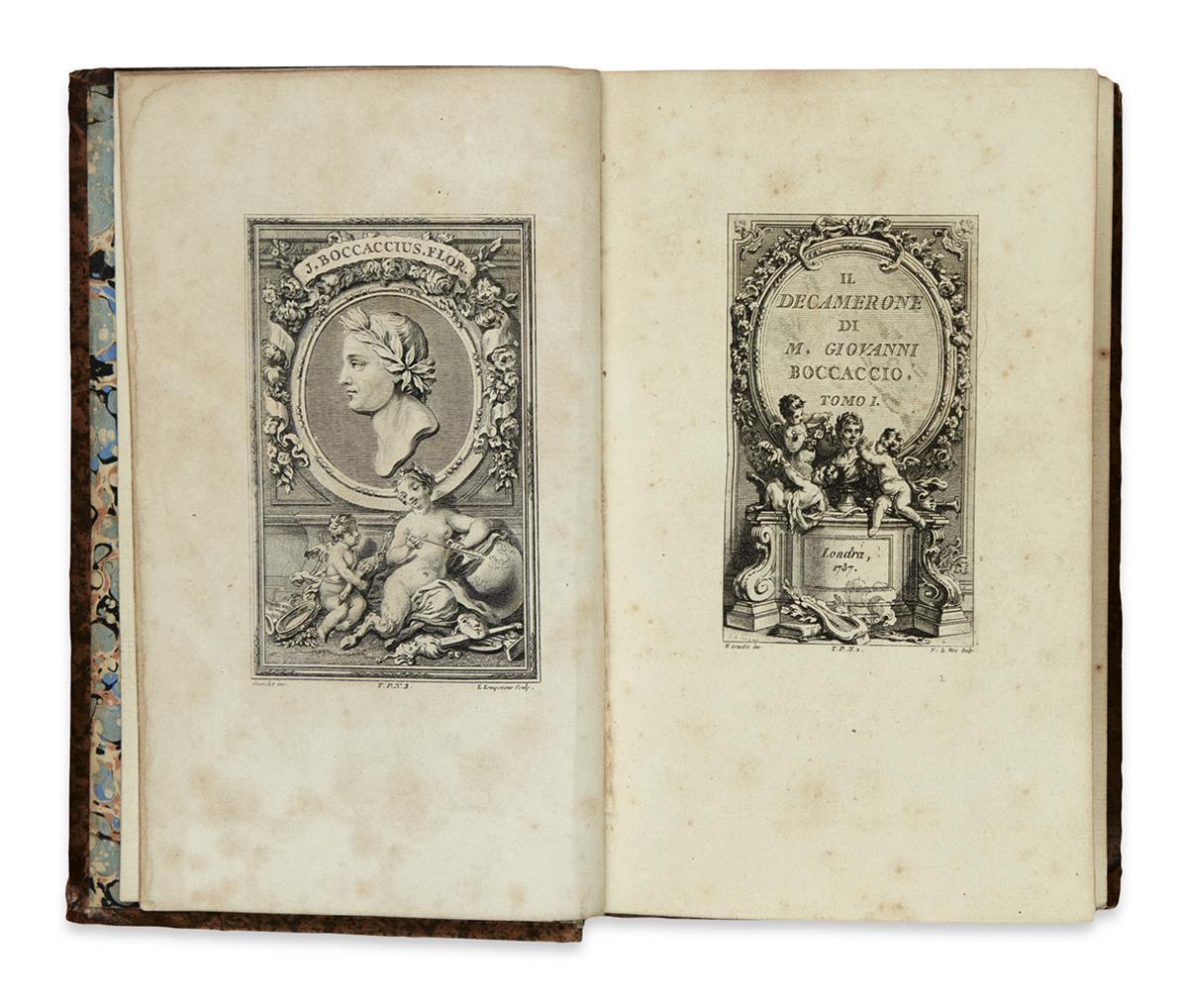 BOCCACCIO-GIOVANNI-Il-Decamerone--5-vols--1757