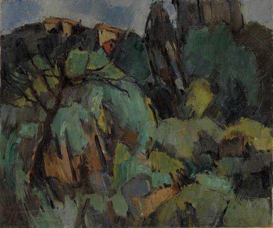 HALE WOODRUFF (1900 - 1980) Landscape Near Grasse.