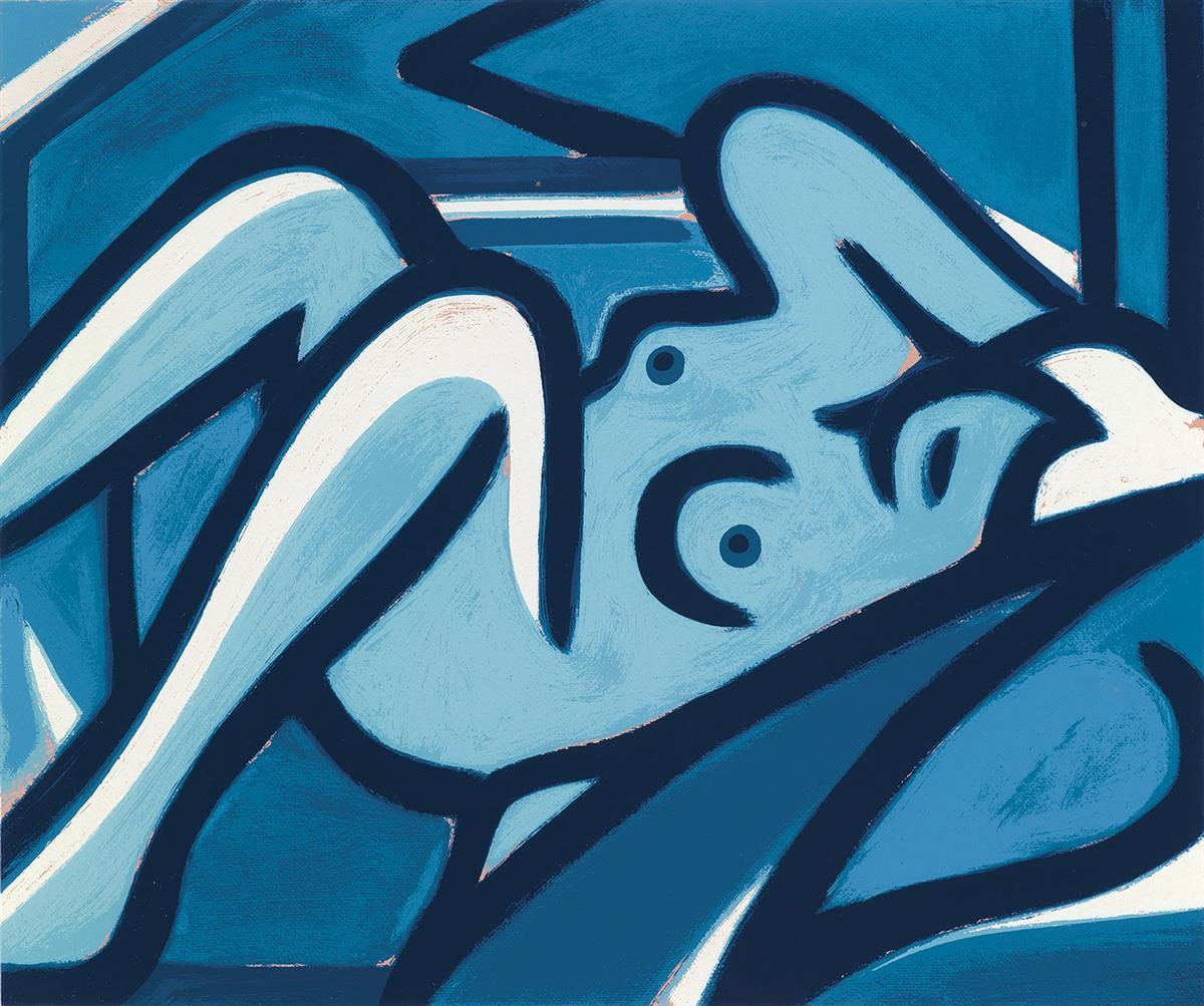 TOM-WESSELMANN-Blue-Nude
