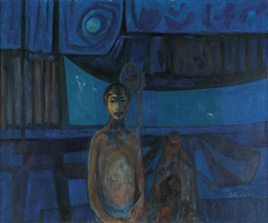 SAMELLA LEWIS (1924 -   ) Boys and Boats.