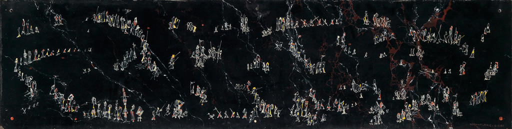 NORMAN LEWIS (1909 - 1979) Untitled (Procession Composition).