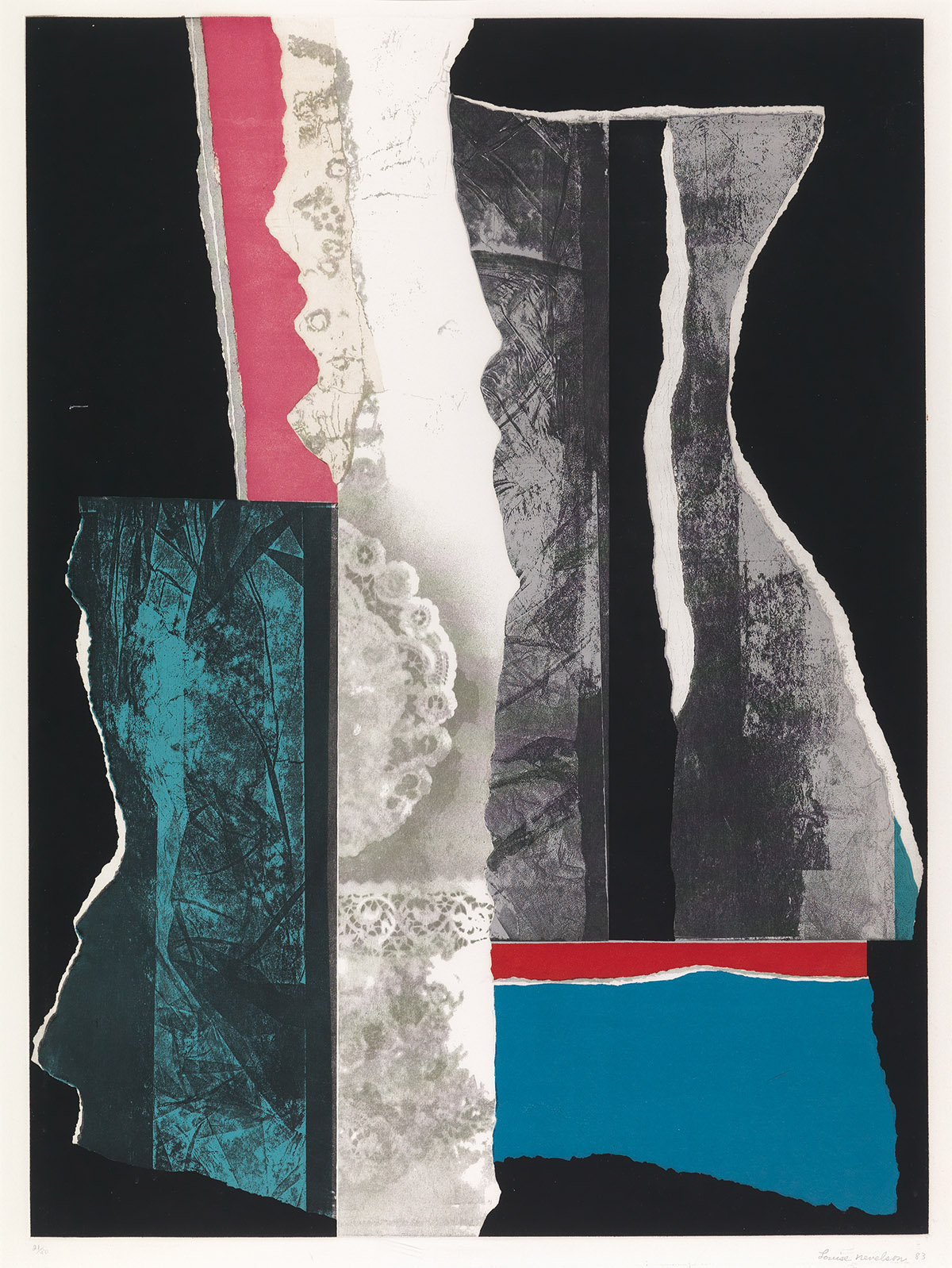 LOUISE NEVELSON Reflections IV.