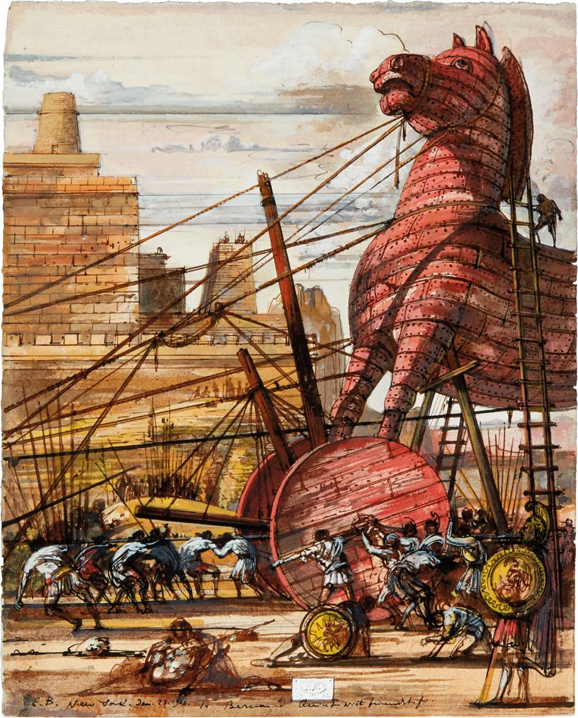 EUGENE BERMAN. Trojan Horse.