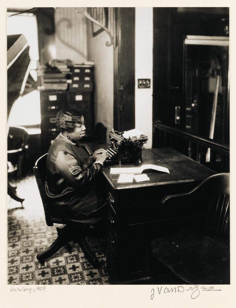 JAMES VANDERZEE (1886 - 1983) Secretary.