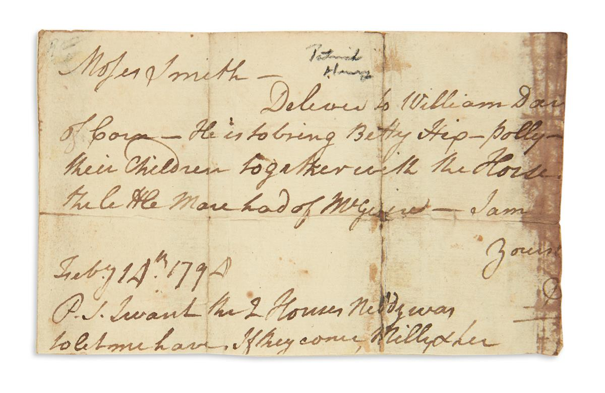 HENRY-PATRICK-Fragment-of-an-Autograph-Letter-to-Moses-Smith