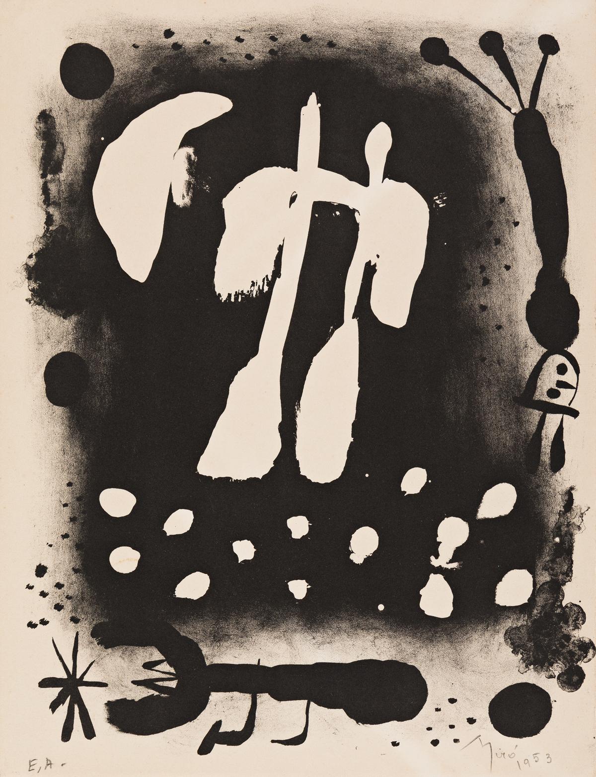 JOAN MIRÓ Catalogue de lexposition Recent paintings 1953 a` loccasion du 60e anniversaire de lartiste.
