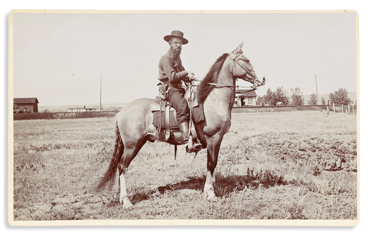 (WEST--MONTANA.) F. Jay Haynes; photographer. Group of 4 large-format photographs of Montana cowboys.