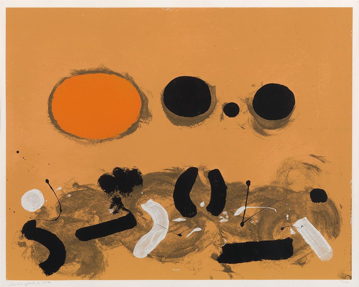 ADOLPH-GOTTLIEB-Orange-Oval