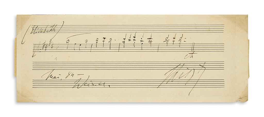 LISZT-FRANZ-Autograph-Musical-Quotation-dated-and-Signed-FLi