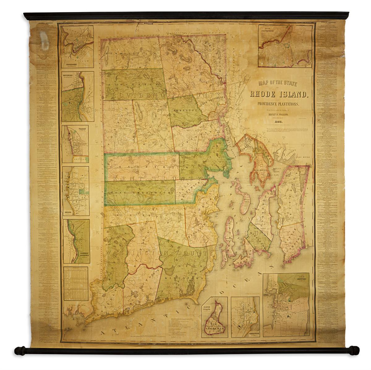 WALLING-HENRY-FRANCIS-Map-of-the-State-of-Rhode-Island-and-P