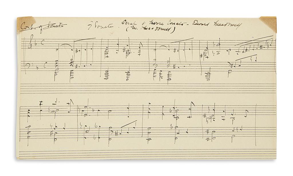 MACDOWELL-EDWARD-ALEXANDER-Autograph-Musical-Manuscript-Sign