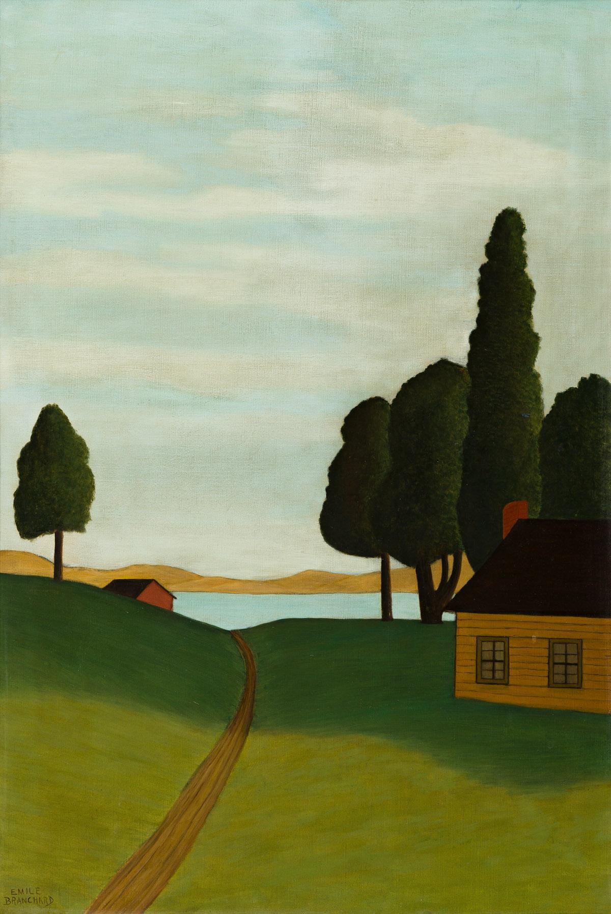 EMILE BRANCHARD (1881-1938) At the Lake.