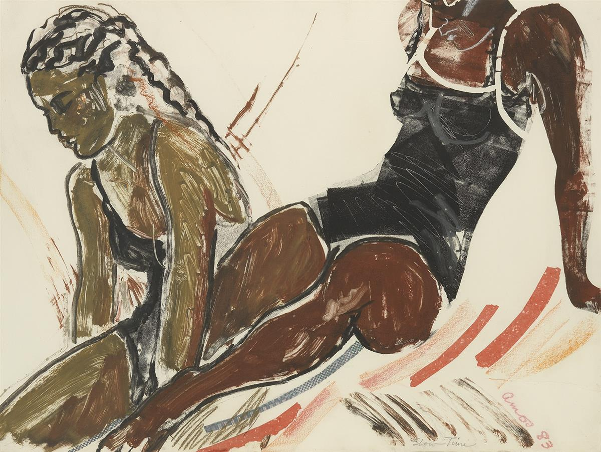 EMMA AMOS (1938 -   ) Slow Time.