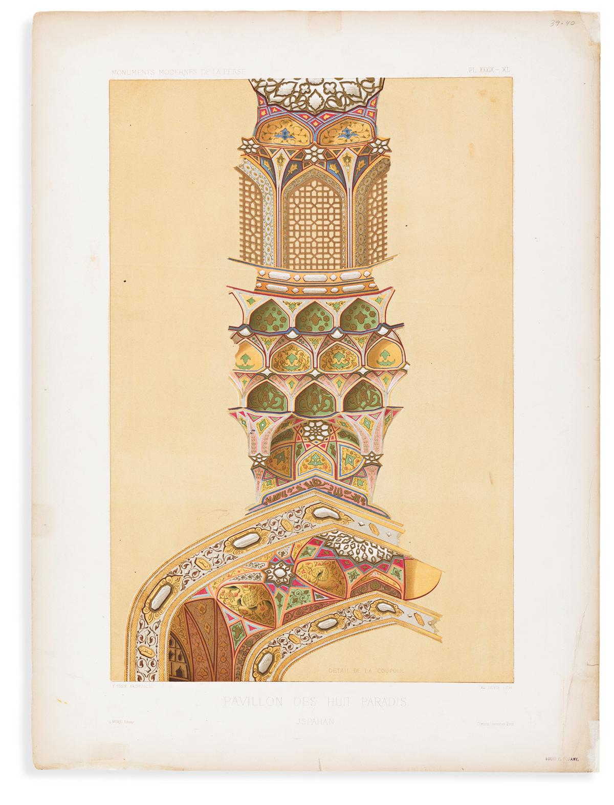 Coste, Pascal Xavier (1787-1879) Monuments Modernes de la Perse.