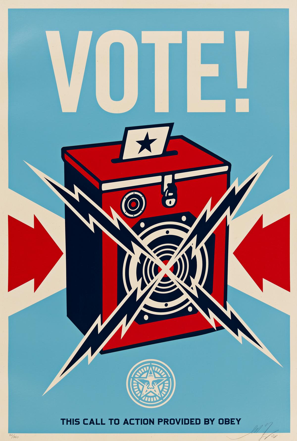 SHEPHERD FAIREY Vote.
